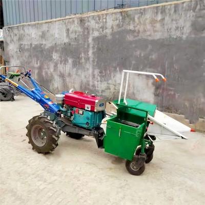 手扶拖拉机带动单行玉米收获机 剥皮干净单行玉米收获机 出口品质