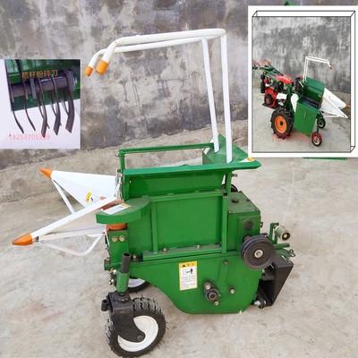 手扶拖拉机自动扒皮玉蜀黍收获机 单垄单行玉米收获机 图片
