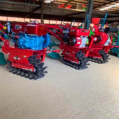 小型履带式微耕机 多功能耘锄施肥播种耕地机 好用柴油机
